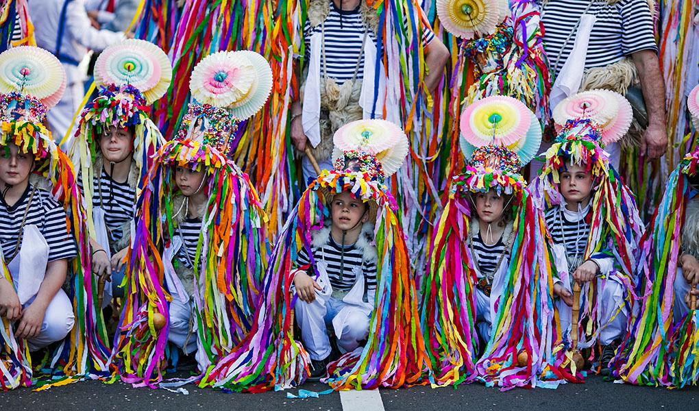 Kinder auf Fest in Rijeka